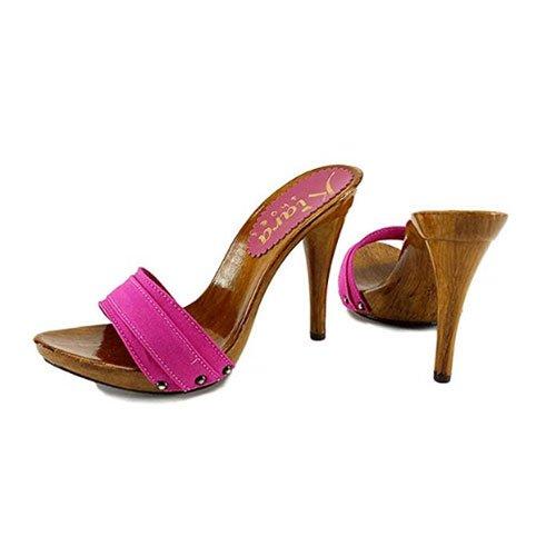 zoccoli fucsia tacco 12 kiara shoes 2