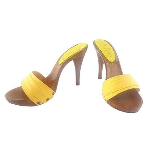 zoccoli gialli tacco 12 kiara shoes 2