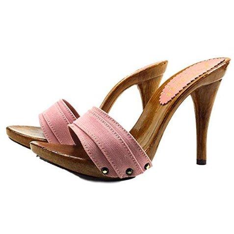 zoccoli rosa tacco 12 kiara shoes 1