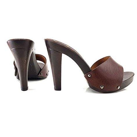 zoccolo marrone tacco 11 kiara shoes 2