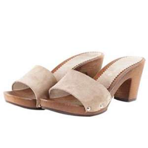 Sandali con tacco 7 cipria