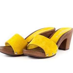 Sandali con tacco 7 gialli