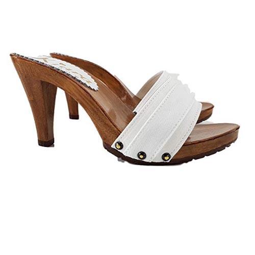 kiara shoes Zoccolo bianco Tacco 9