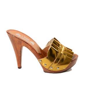 zoccoli donna color bronzo kikkiline