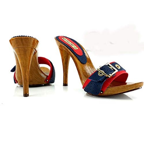zoccoli estivi rossi tacco 12 3