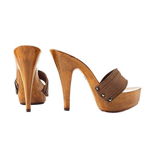 zoccoli marrone tacco 13 kiara shoes