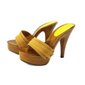 zoccoli ocra tacco 13 kiara shoes
