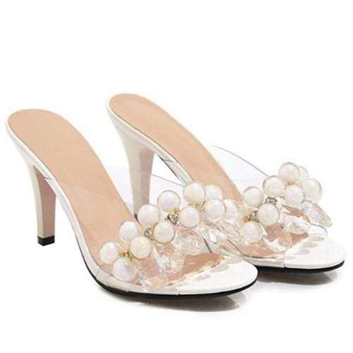 sandali trasparenti bianchi