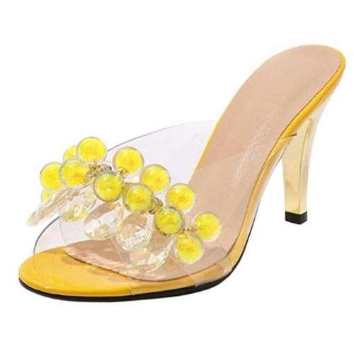 sandali trasparenti gialli