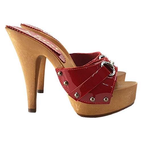 zoccoli rossi kiara shoes