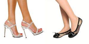 High-heeled sandals look better than ballet flats