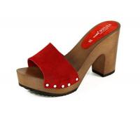 zoccoli rossi tacco 10 Silfer Shoes