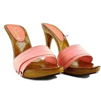 12cm heels coral mules by kiara shoes