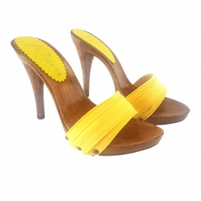 12cm heels yellow mules kiara shoes