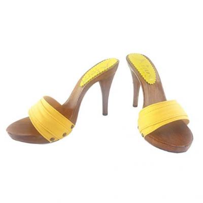 12cm heels yellow mules kiara shoes 2