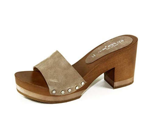comfortable wooden mules