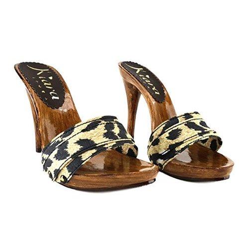zoccoli leopardo tacco 12 kiara shoes