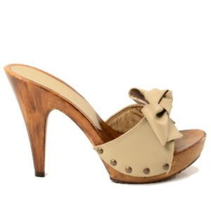 light brown 12cm high heels mules Kikkiline