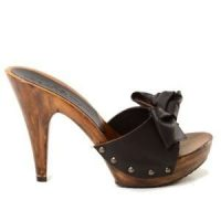 brown 12cm high heels mules Kikkiline