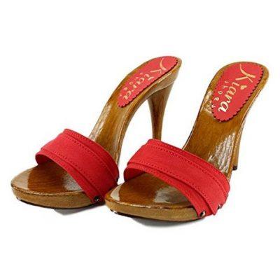 zoccoli rossi tacco 12 kiara shoes