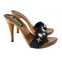 High heels 12cm black mules kiara shoes 1