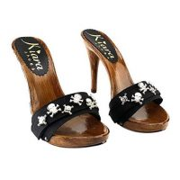 high heels 12cm black mules kiara shoes