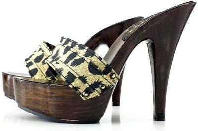 zoccoli sexy leopardati