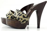 zoccolo leopardato tacco 13 kiara shoes