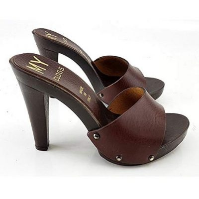 11cm heels brown mules kiara shoes