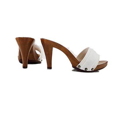 kiara shoes White mules with 9cm high heels