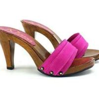 kiara shoes Fuchsia clog 9cm high heels