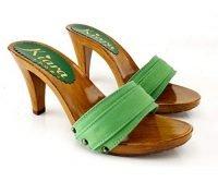 kiara shoes Zoccolo verde Tacco 9