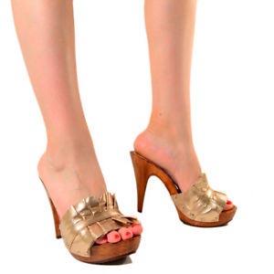 zoccoli donna beige kikkiline