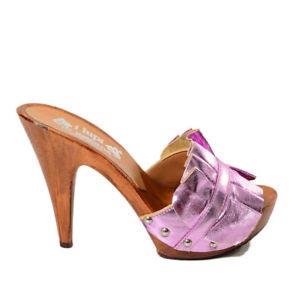 zoccoli donna rosa kikkiline