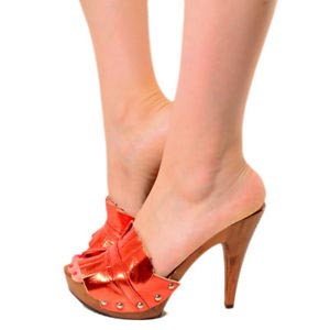zoccoli donna rossi kikkiline