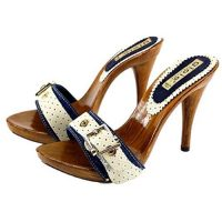 12cm high heels summer blue mules