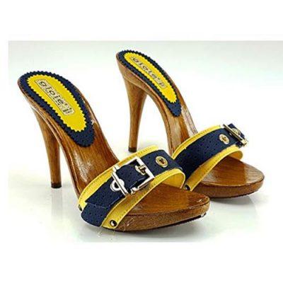 zoccoli estivi gialli tacco 12 1