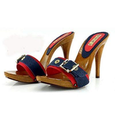zoccoli estivi rossi tacco 12
