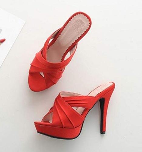 Sandali con tacco 12 rossi