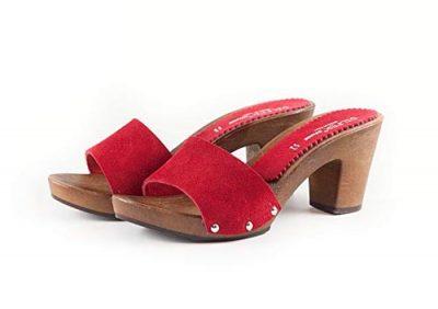 Sandali con tacco 7 rossi