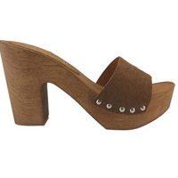 Sandali di legno tacco 10