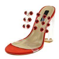 Sandali da donna trasparenti