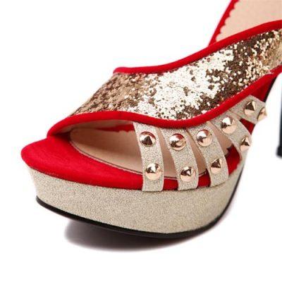 sandali eleganti rossi