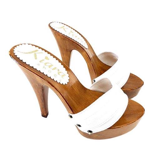 zoccoli bianchi tacco 13 kiara shoes