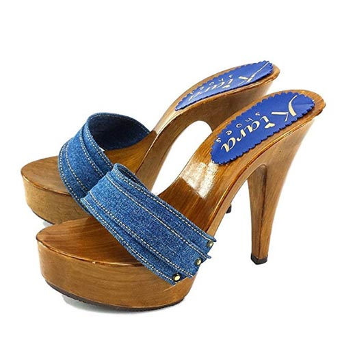 zoccoli jeans tacco 13 kiara shoes