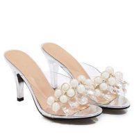 Sandali trasparenti e argento