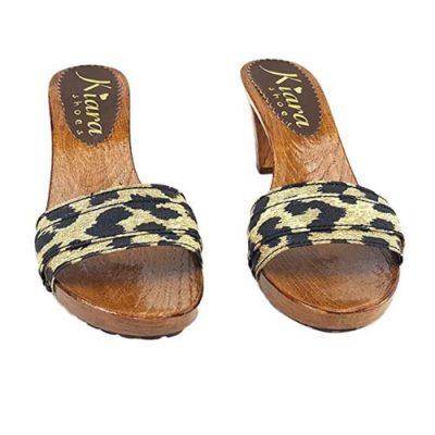 zoccoli bassi leopardati