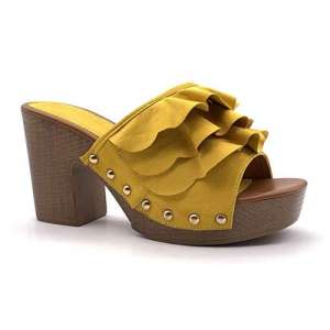 zoccoli vintage gialli