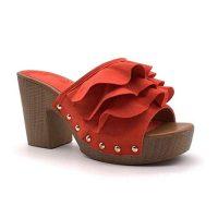 zoccoli vintage rossi
