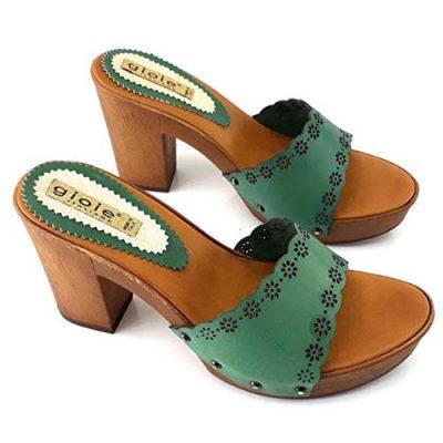gioie italiane zoccoli comodi verdi